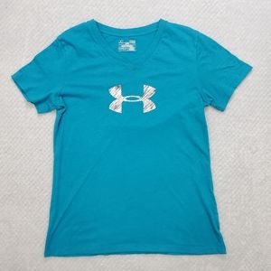 🦋3/30 Under Armour Blue T-Shirt Size Small